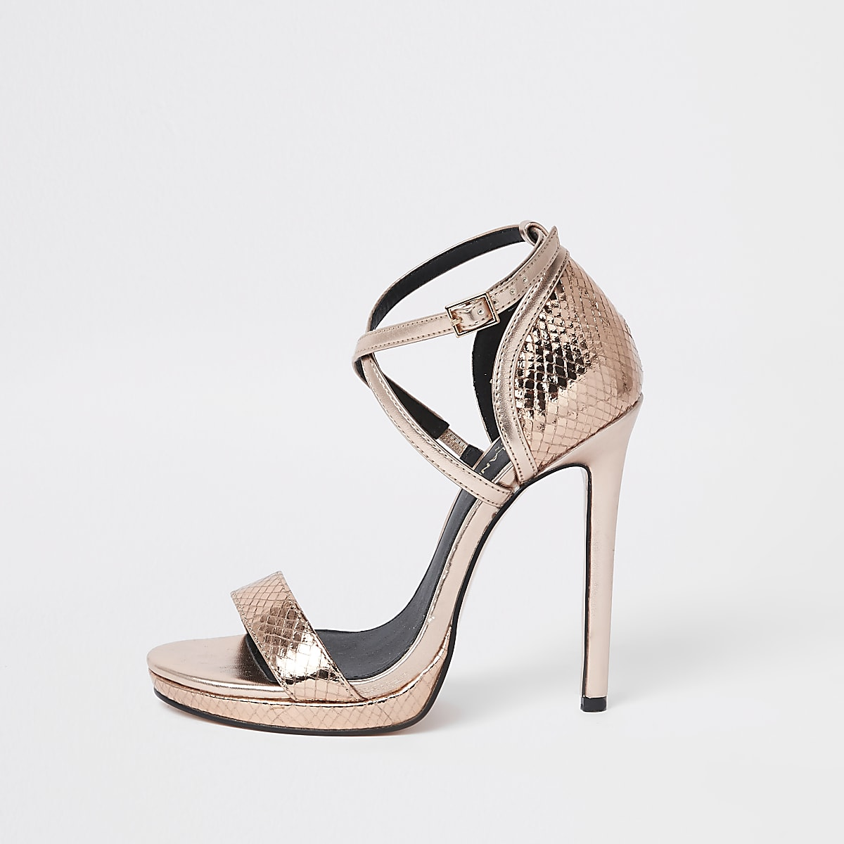 6ad57d2e3ccc Rose gold barely there platform sandals - Sandals - Shoes   Boots - women