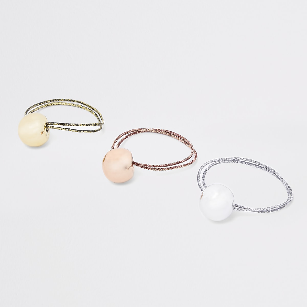 Gold lurex hair tie pack