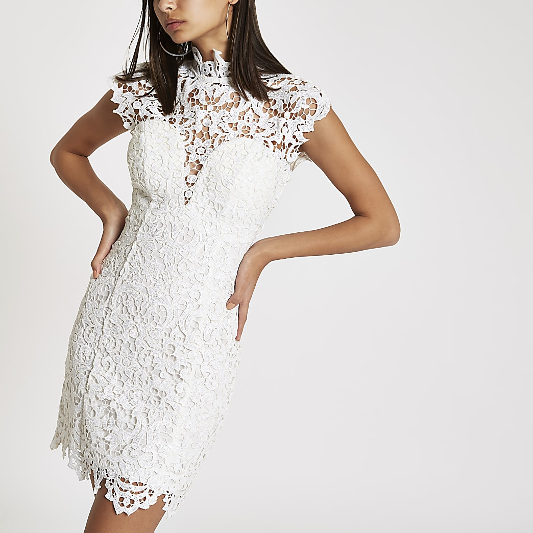 Forever Unique white lace bodycon dress