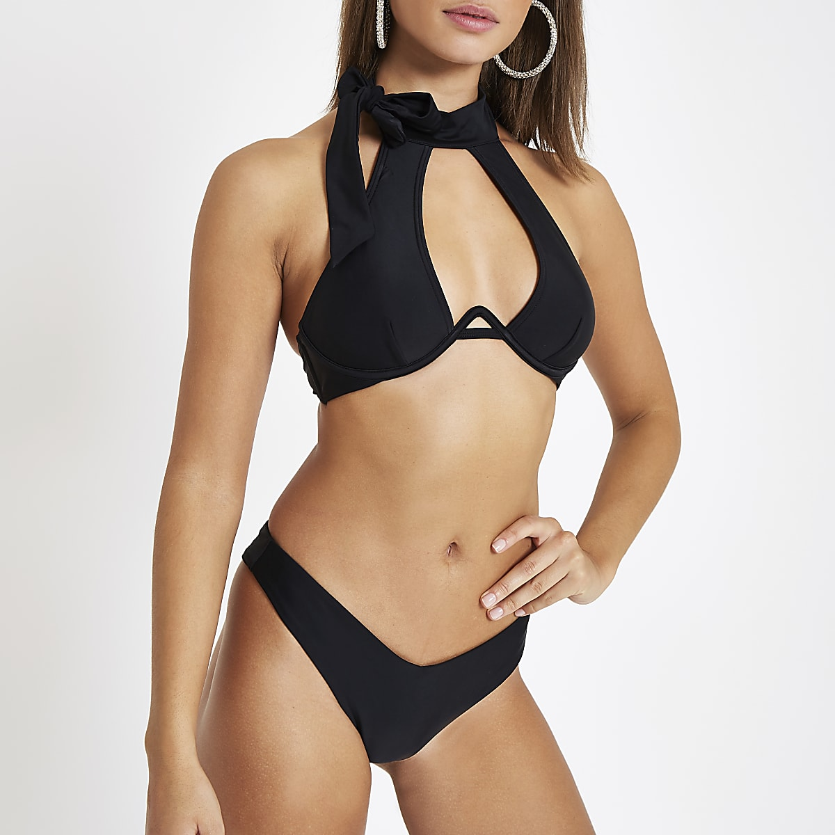 d153dede9f8 Black high leg bikini bottoms - Bikini Bottoms - Bikinis - Swimwear &  Beachwear - women