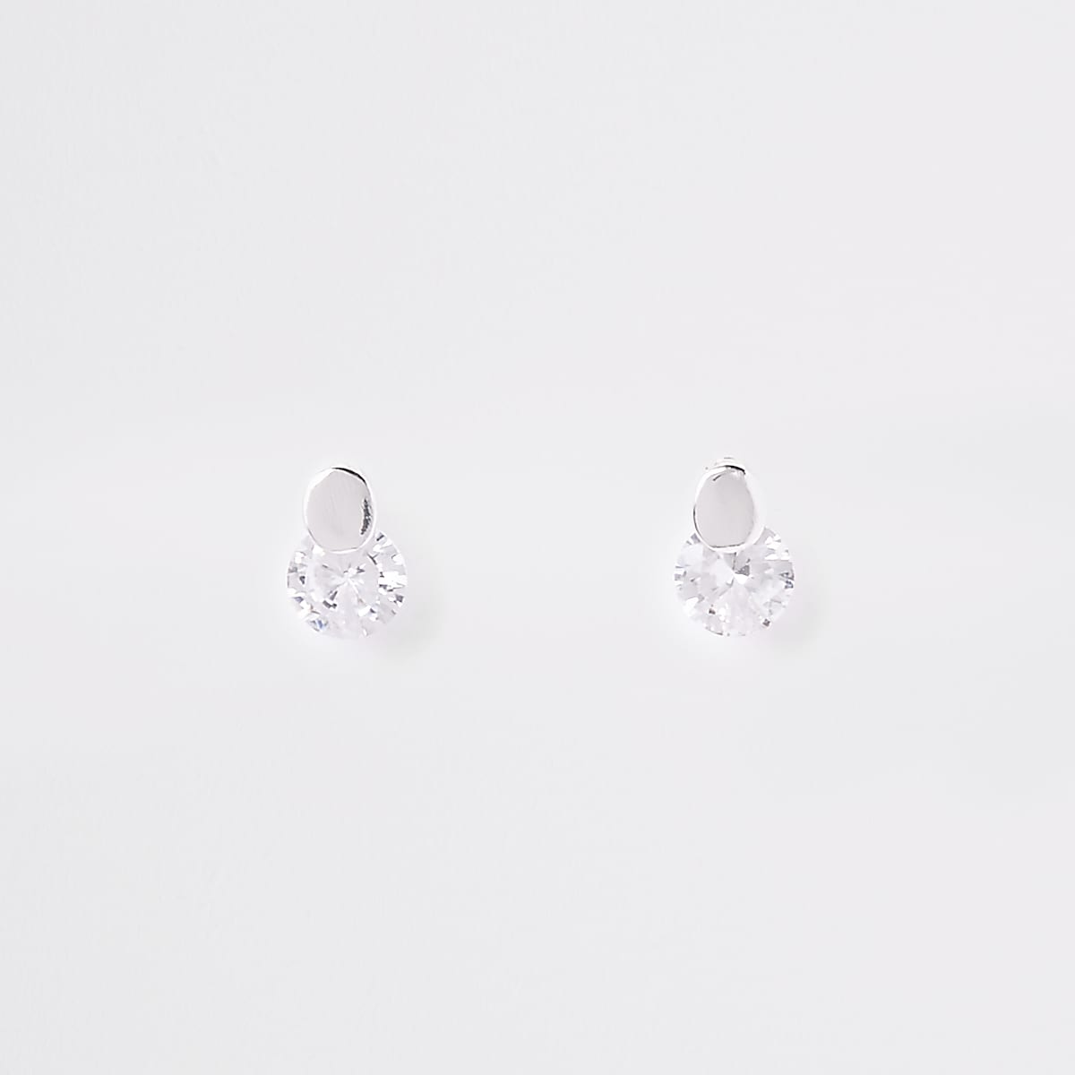 Silver plated diamante earrings