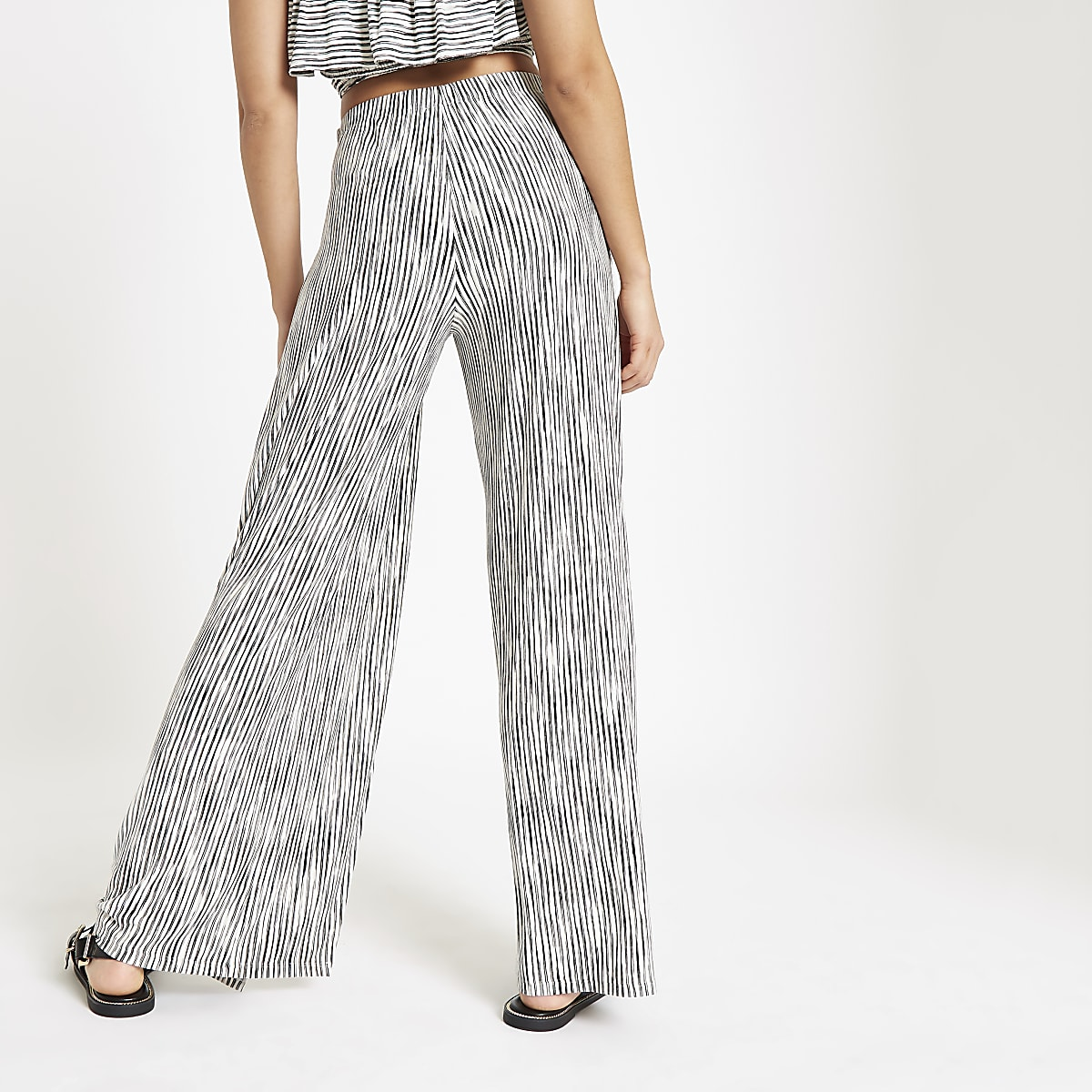aab7d027ef White stripe wide leg beach trousers - Kaftans & Beach Cover-Ups ...