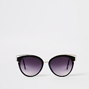 9651f334dec Black cat eye smoke lens sunglasses