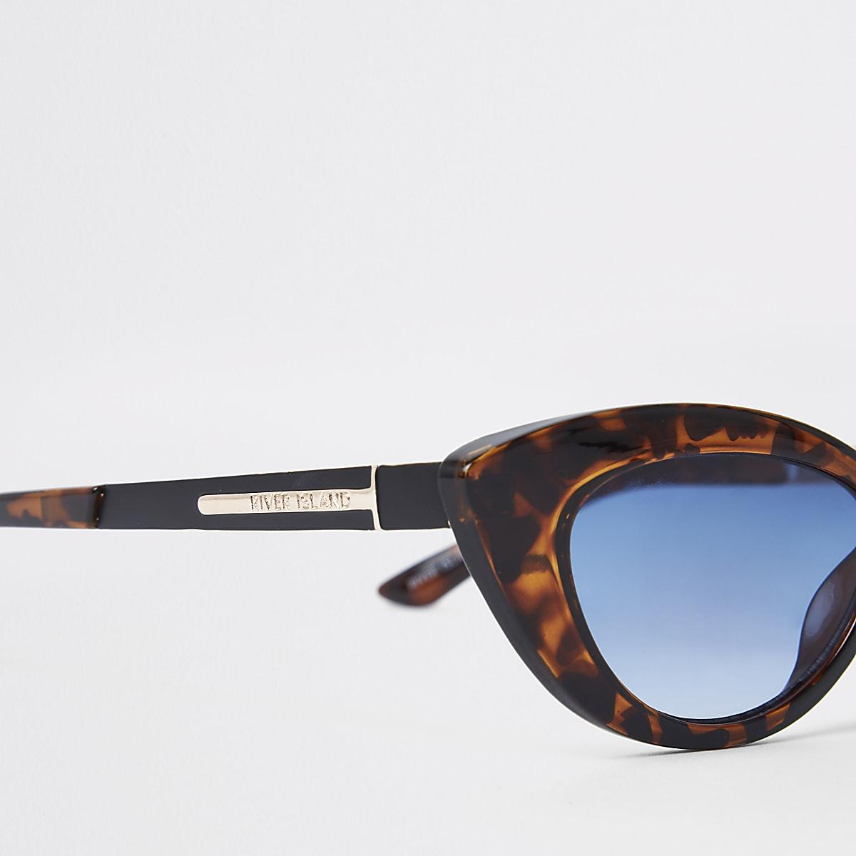 df84a5ee27081b Bruine visor-zonnebril met tortoise-print - Cat-eye-zonnebrillen ...
