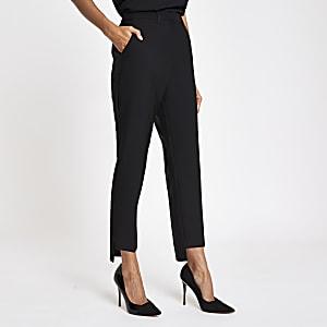 Petite – Schwarze Straight Leg Hose