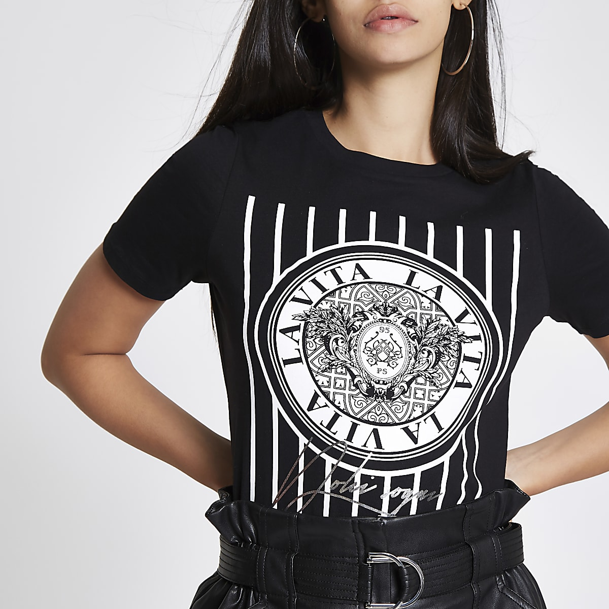 "Schwarzes T-Shirt ""La Vita"""