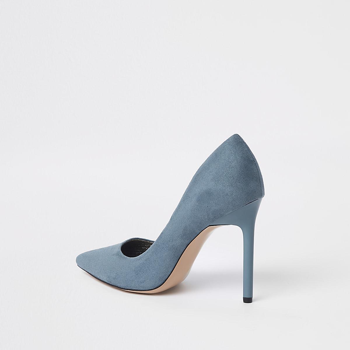 8e76e64fc8151b Blaue Pumps aus Wildlederimitat - Schuhe - Schuhe   Stiefel - Damen