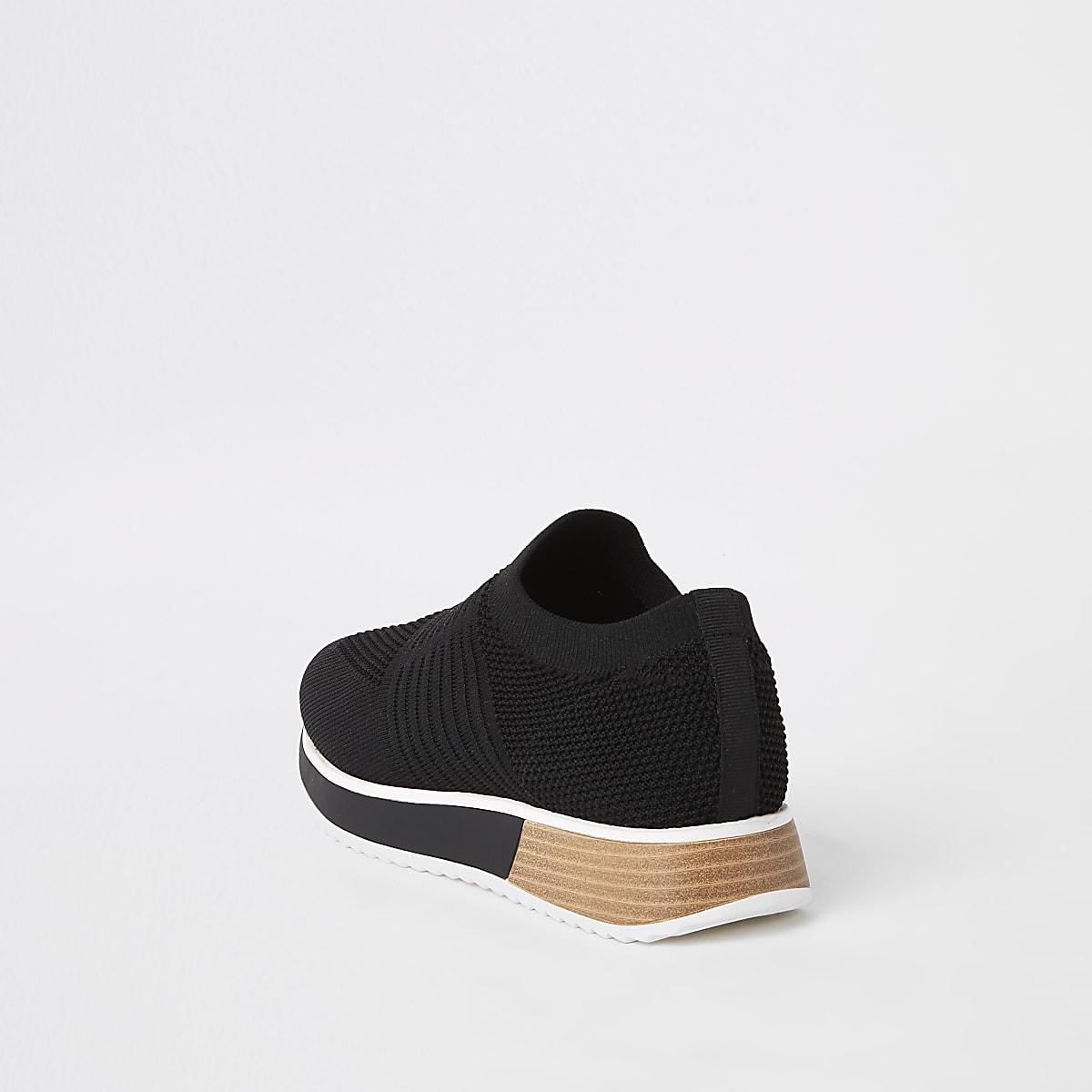 172553bec3b Zwarte gebreide sneakers - Sneakers - Schoenen & Laarzen - Dames