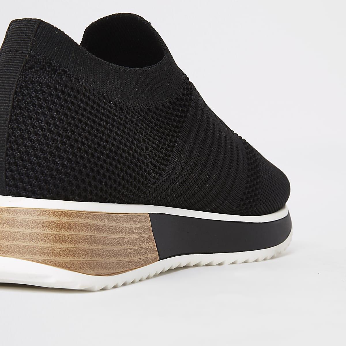 ee216e40950 Home · Dames · Schoenen en laarzen; Zwarte gebreide sneakers. Zwarte  gebreide sneakers ...