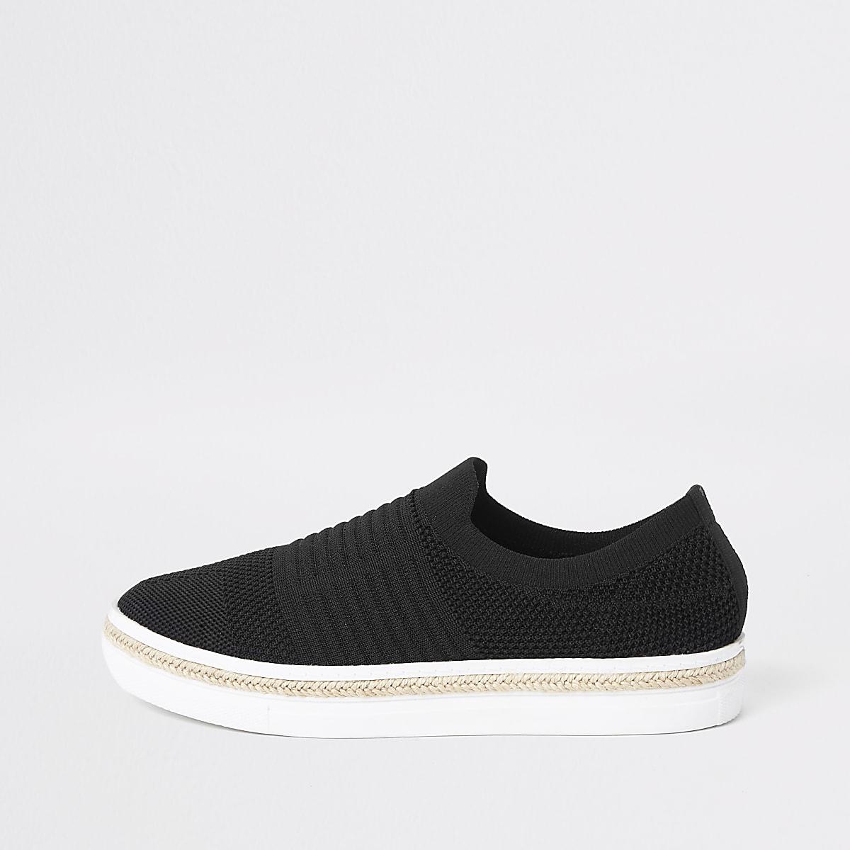 fde159b8d7f Home · Dames · Schoenen en laarzen; Zwarte gebreide espadrillesneakers. Zwarte  gebreide espadrillesneakers Zwarte gebreide espadrillesneakers ...
