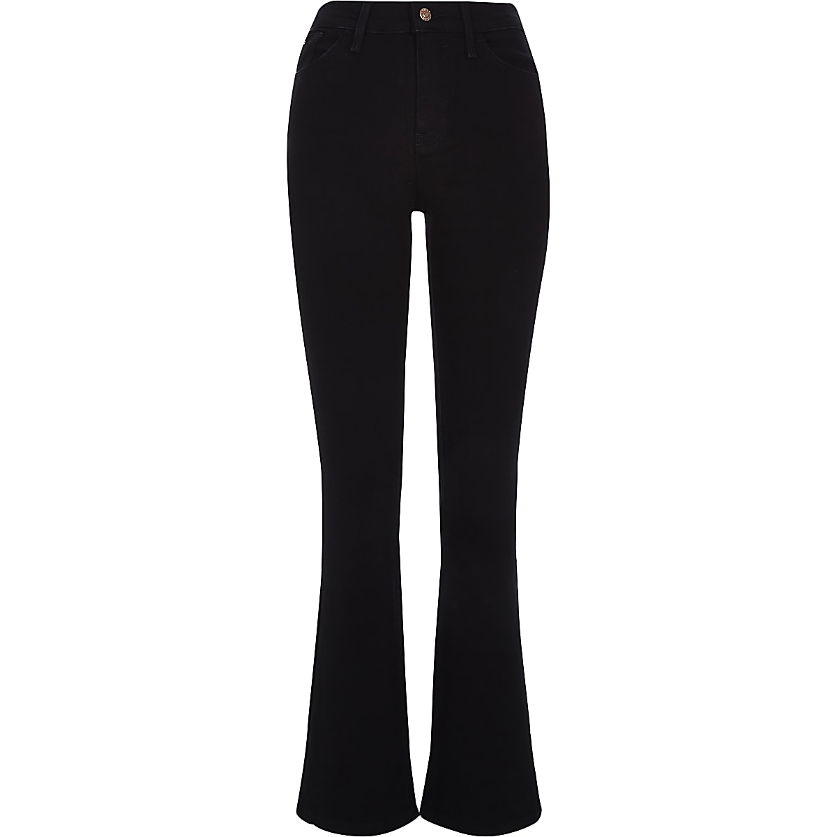 2ea7aa2e90dd4 Jean bootcut évasé noir taille haute - Bootcut & Jeans évasés ...