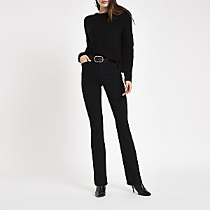 Black high rise bootcut flared jeans