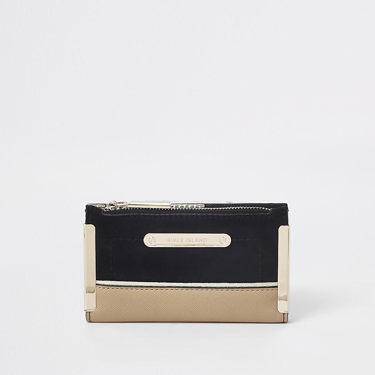 Black mini foldout purse