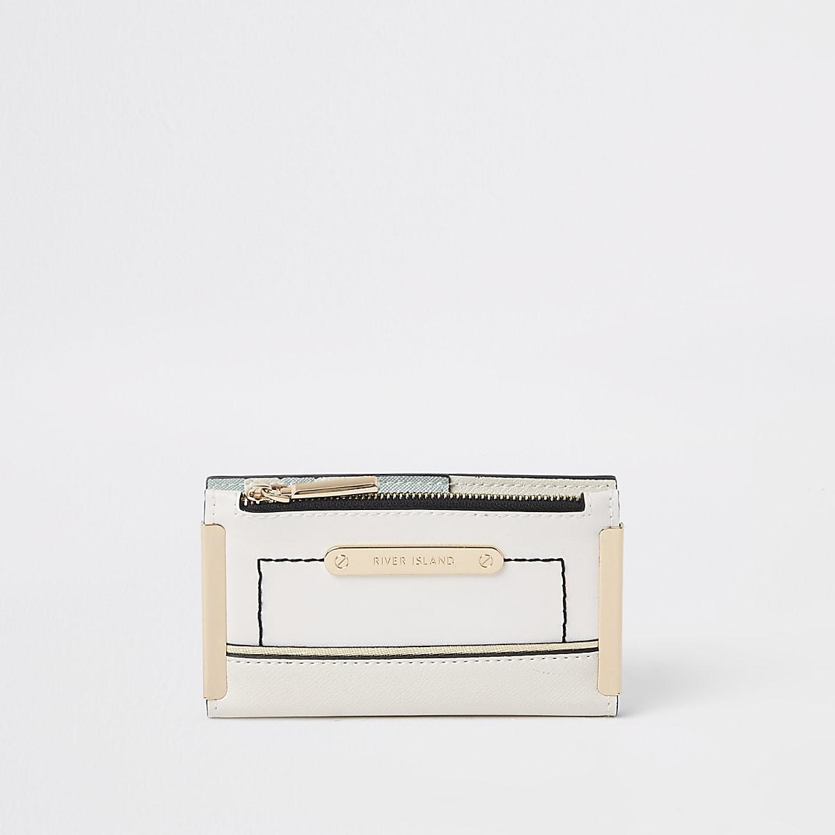 White mini foldout purse