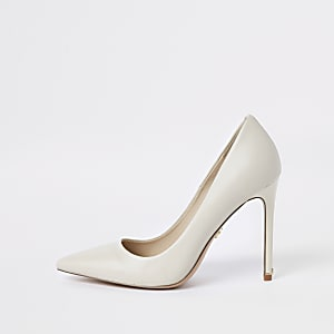 Bone leather court shoes