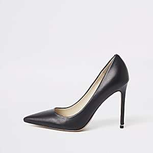 Escarpins en cuir noir