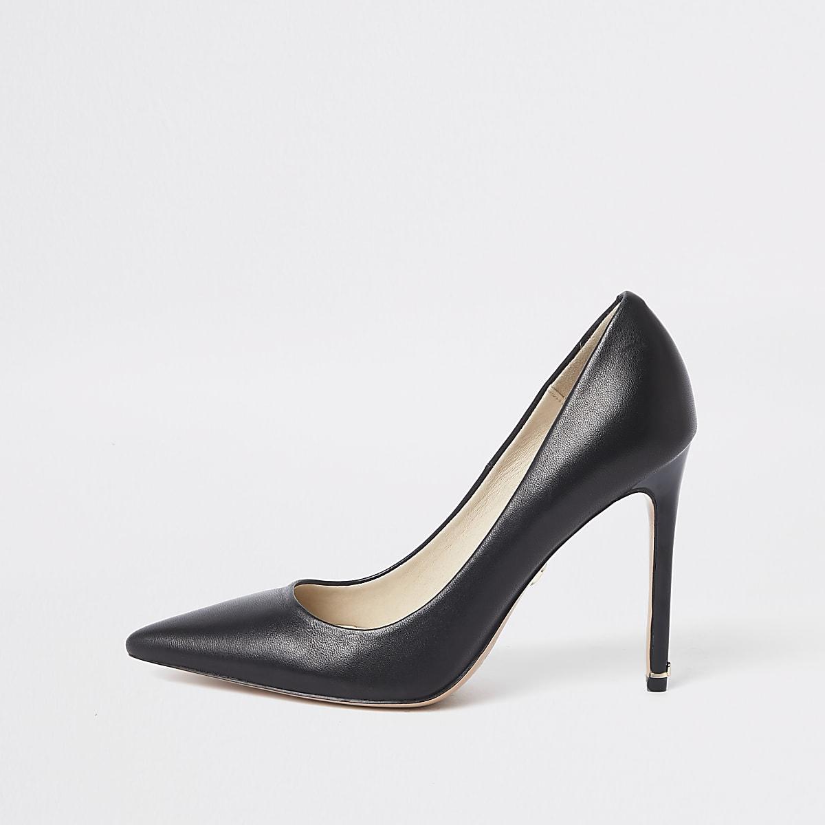 Cuir Escarpins Bottes Femme En Noir Chaussuresamp; NmnvO08w