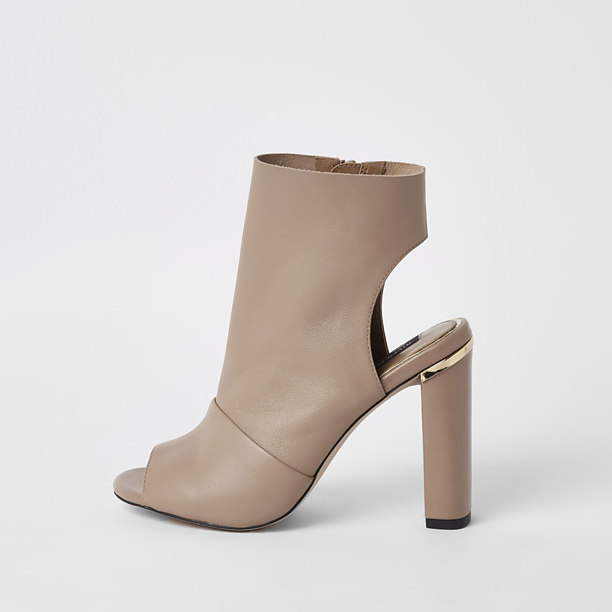 Light pink leather shoe boot