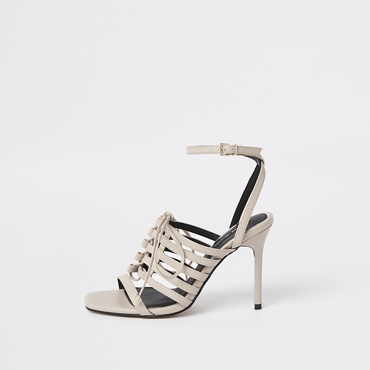 05c3f371e5d Light pink strappy lace up heel sandals
