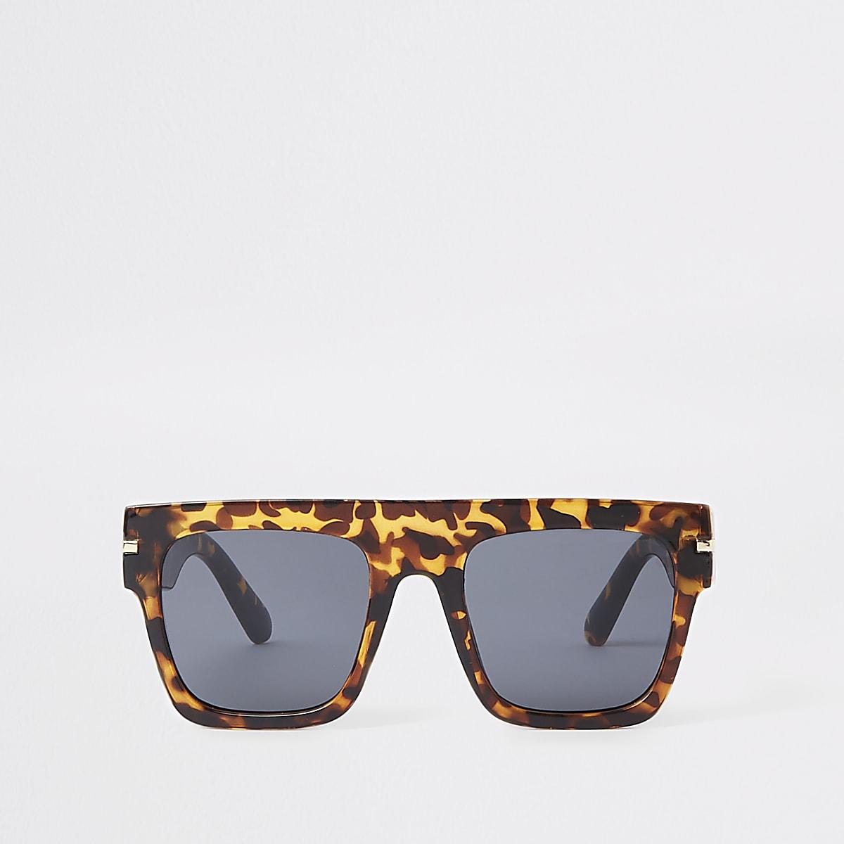 Braune Visor-Sonnenbrille