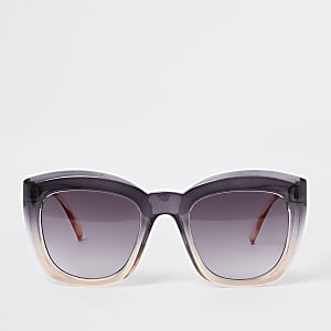 Pink ombre oversized sunglasses