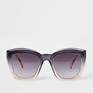 Roze ombré oversized zonnebril