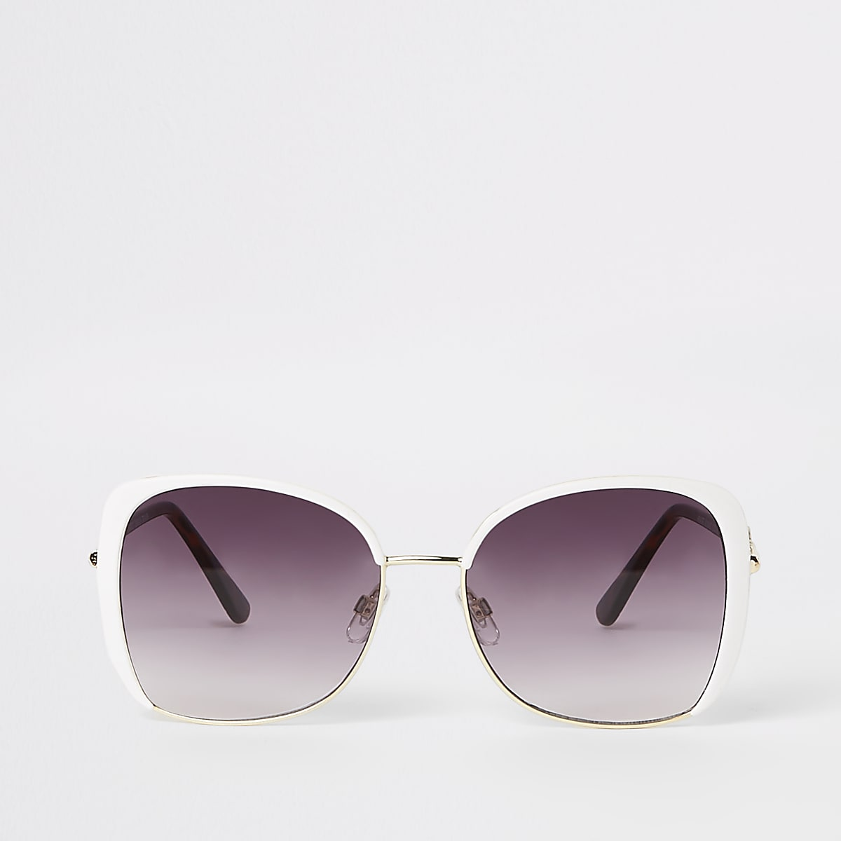 White RI glam over-sized sunglasses