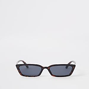 Braune Sonnenbrille aus Schildpatt