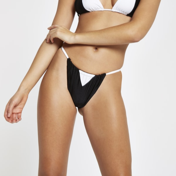 River Island - bas de bikini  à motif colour - 2