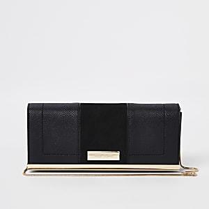 Zwarte clutch met ketting