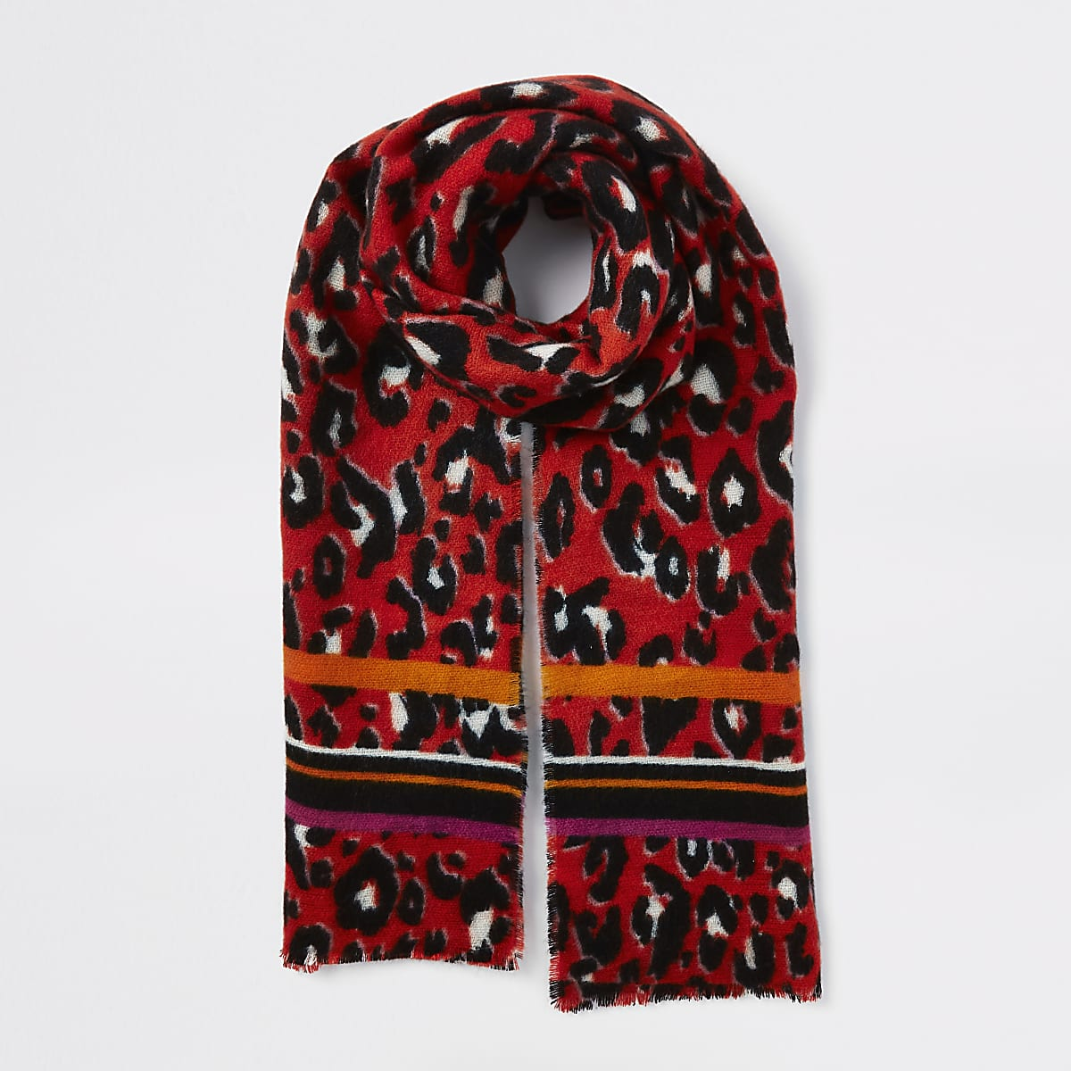 081d9f5817d46 Red leopard print scarf - Scarves - Accessories - women