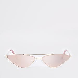Schmale Sonnenbrille in Pink