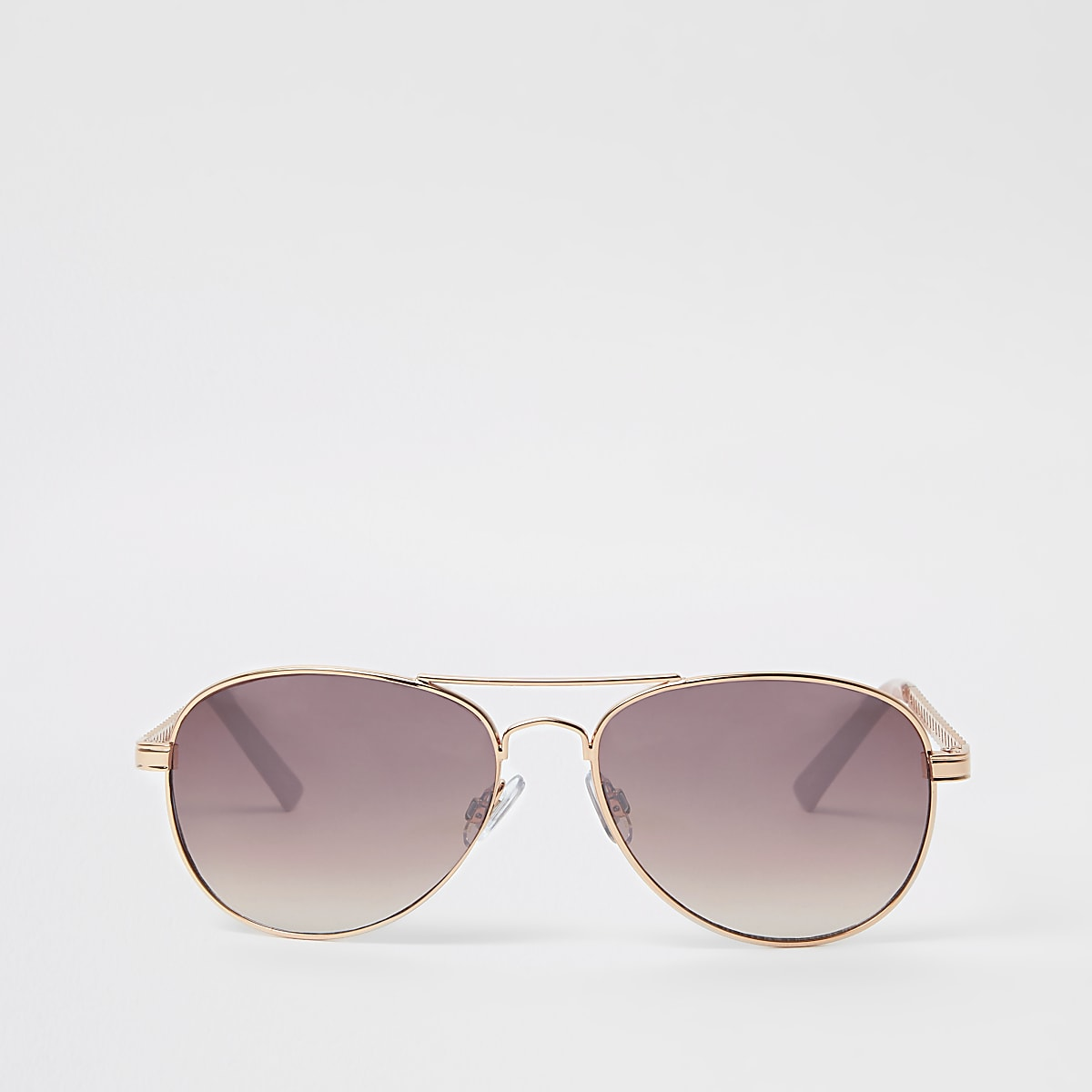 96a552b92 Rose gold pink lens chain aviator sunglasses - Aviator Sunglasses -  Sunglasses - women