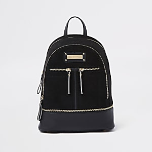 Black zip bottom backpack
