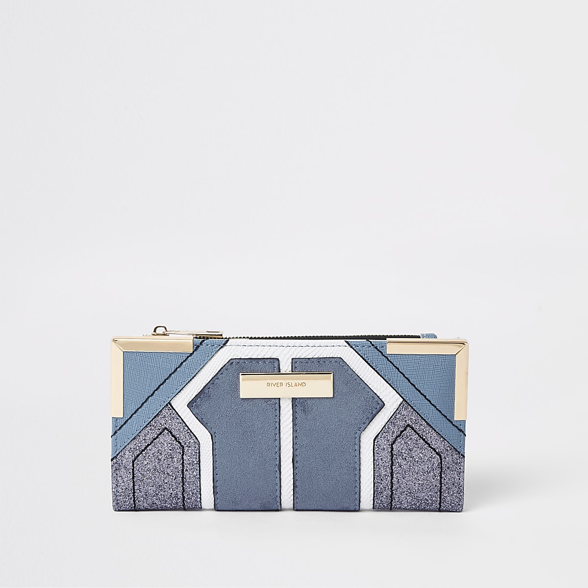 Light blue cutabout foldout purse