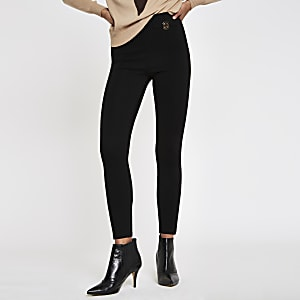 Black ponte RI leggings