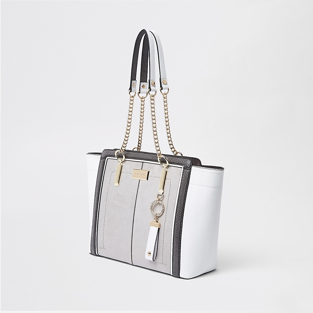 22184fbab51 Light grey winged chain handle tote bag - Shopper & Tote Bags - Bags &  Purses - women