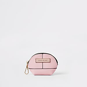 Pink mini oval pouch purse