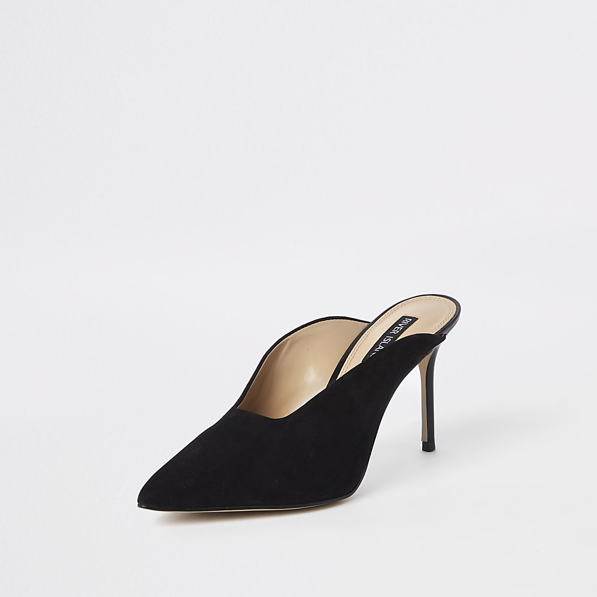 c63764a19b Black leather pointed toe slim heel mules - Shoes - Shoes & Boots ...