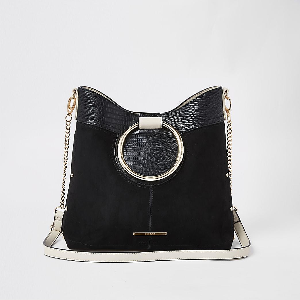 Schwarze Tasche mit Griff