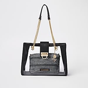 Schwarze Tote Bag mit Innentasche