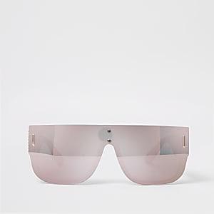 Zilverkleurige visorzonnebril met spiegelglazen