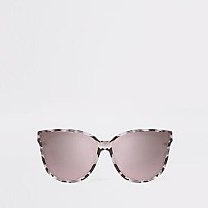 Graue, verspiegelte Sonnenbrille