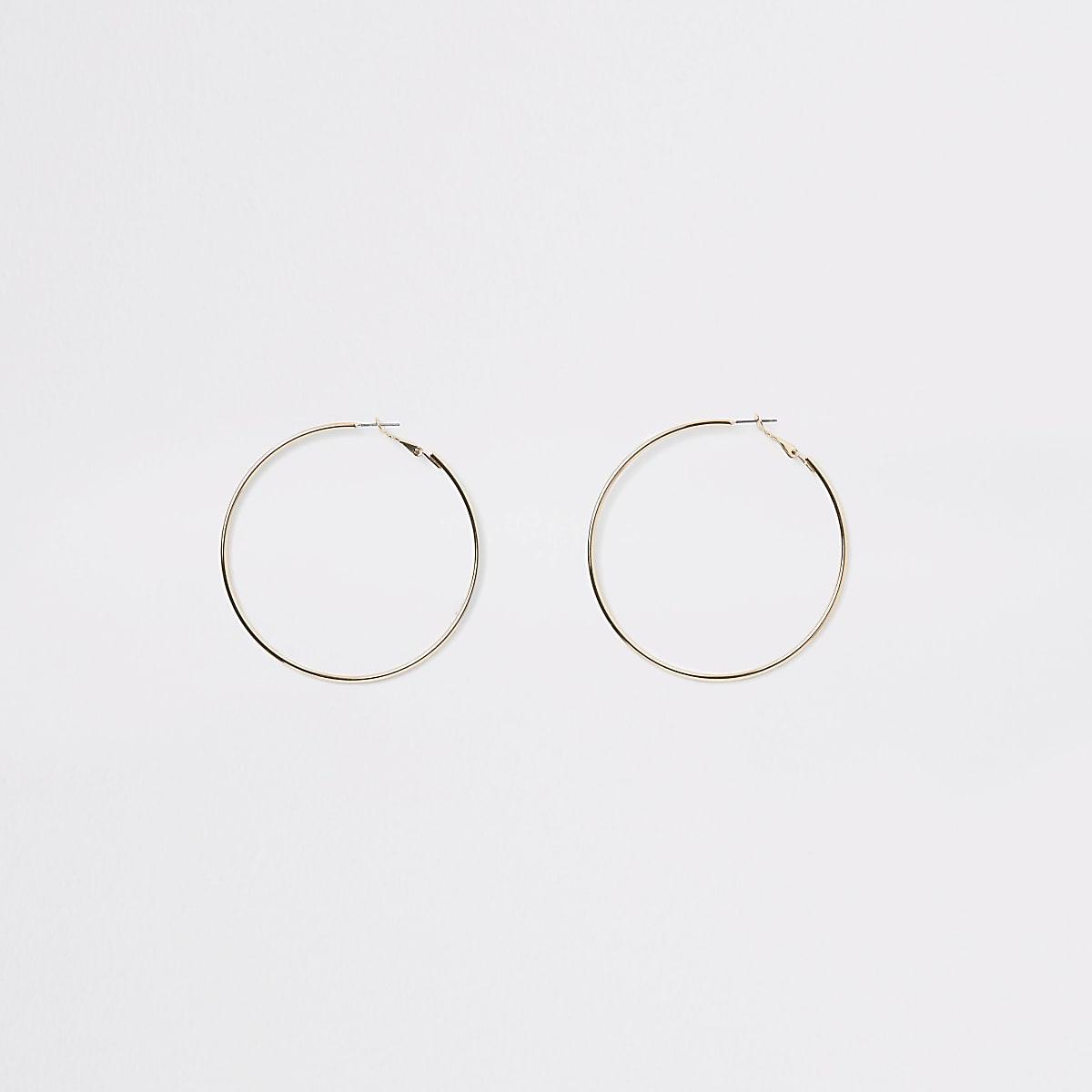 Gold colour hoop earrings