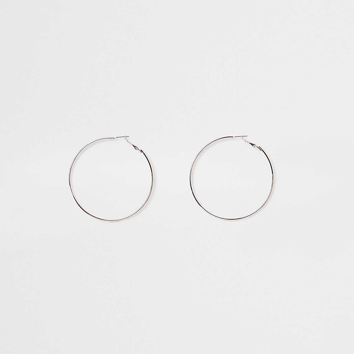 Rose gold colour hoop earrings