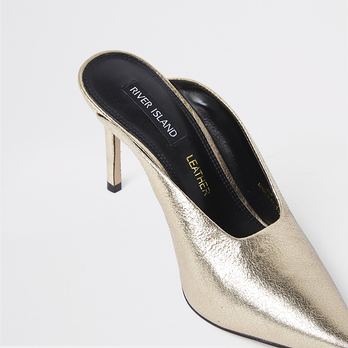 12cf05989c Gold leather pointed toe slim heel mules - Shoes - Shoes & Boots - women
