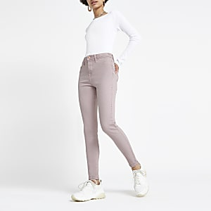 Molly – Jegging rose clair à taille mi-haute