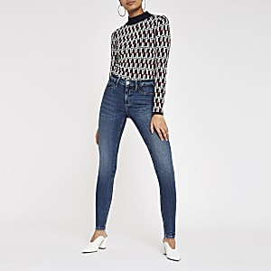 Dark blue Molly lined jeggings
