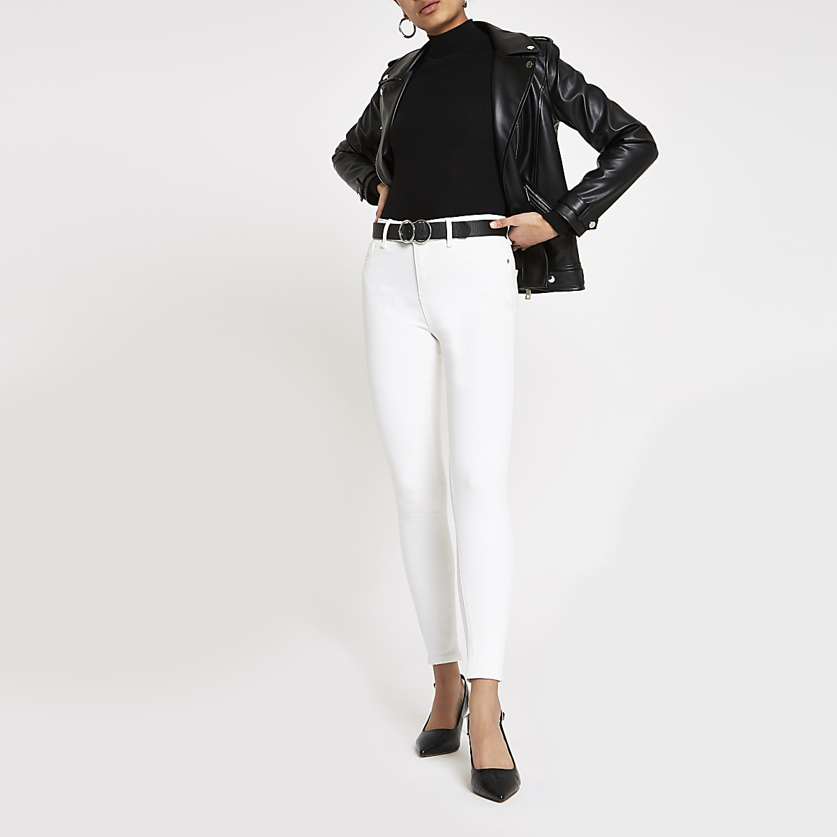 Amelie - Offwhite superskinny jeans
