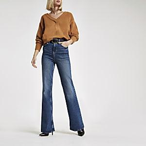 Dark blue RI flared jeans